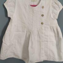 Vestido bebê branco - 6 a 9 meses - Mini Vida