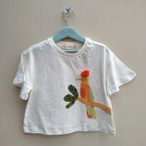 Blusa pássaro com pompom Fábula - 2 anos - Fábula
