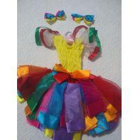 Vestido de quadrilha colorido - Sem faixa etaria - Não informada