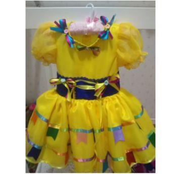 Vestido infantil luxo quadrilha - Sem faixa etaria - Feito à mão