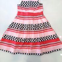 Vestido Poa e Listras - 6 anos - Momi
