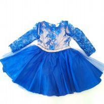 Vestido Renda e Tule - 4 anos - Artesanal