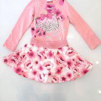 Conjunto Floral e Pérolas - 4 anos - Momi