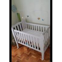 Berço Mini-Cama 3 em 1 Lila Branco - Carolina Baby -  - Carolina Baby