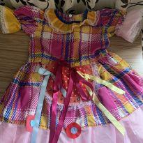 Vestido festa junina Tam 3/4! - 3 anos - Nacional