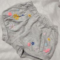 Bermuda Cinza soltinha - 3 a 6 meses - COTTON ON KIDS e Cotton Baby (importado)