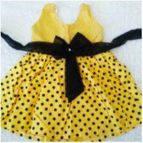 Vestido amarelo de bolinhas❤️ - 1 ano - Sem marca