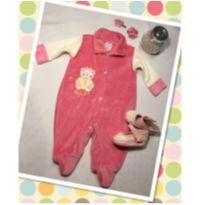 Macacão bebê plush rosa - 3 a 6 meses - Bebê chorão