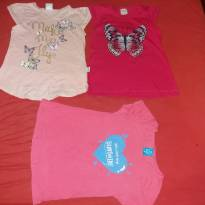 Kit 3 camisetas - 4 anos - Brandili elian e hering