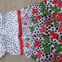 Vestido Poá Borboletas 1 ano em Algodão - 1 ano - Não informada