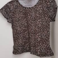 Blusa / Camiseta em malha Oncinha Tam 4 - 4 anos - Sem marca