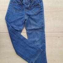 Calça jeans Carter´s Tam 6 - Bolsos Coração - 6 anos - Carter`s