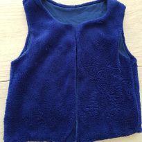 Colete em pelúcia Azul Marinho Tam 6 - 6 anos - Não informada