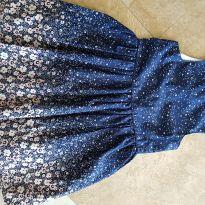 Vestido Algodão Azul / Rosa  Tam 7/8 - 7 anos - Young dimension