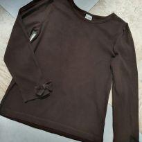 Blusa manga longa em malha Marrom Gymboree - Tam 7 - 7 anos - Gymboree