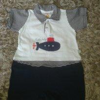 Macaquinho submarino - 6 a 9 meses - Beka Baby