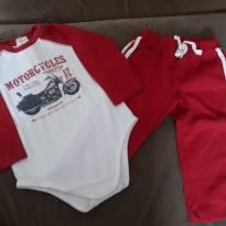 CONJUNTINHO BODY LONGO - 6 a 9 meses - Alô bebê