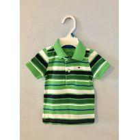 Camisa polo Tommy Hilfiger original verde listrada - 3 a 6 meses - Tommy Hilfiger
