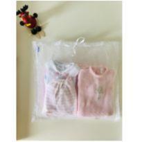 Saída de Maternidade Macacão com bordado Buquê Rosa-Conjunto completo - 6 peças - Recém Nascido - Lilibee
