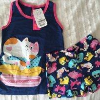 Short doll Puket gatinhos - 4 anos - Puket