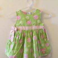Vestido festa joaninhas e flores tamanho M - 6 meses - GiraBaby