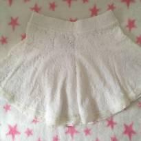 Saia branca renda Zara girls tamanho 5/6 - 5 anos - Zara
