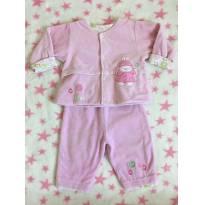 Conjunto grosso frio em plush forrado - 9 meses - Tilly Baby