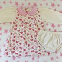 Vestido plush Tip Top borboletinhas - 9 a 12 meses - Tip Top