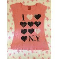 Blusa I love NY - 8 anos - Kyly