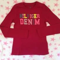 Blusa manga longa Tommy denim - 6 anos - Tommy Hilfiger