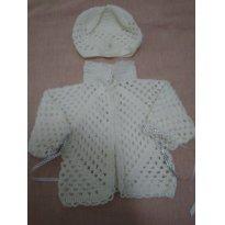 Conjunto de lã - 0 a 3 meses - Feito à mão