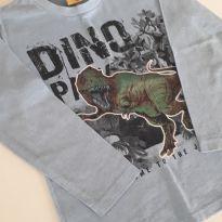 Camiseta Dino manga longa - 2 anos - Não informada