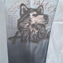 Camiseta Cachorro husky - 2 anos - Não informada
