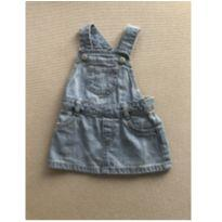 Jardineira jeans - 3 a 6 meses - Old Navy