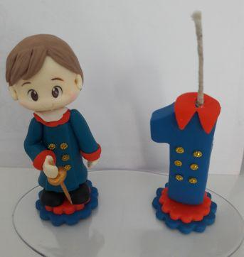 Topo de bolo Pequeno Príncipe moreno - Sem faixa etaria - Biscuit
