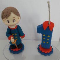 Topo de bolo Pequeno Príncipe moreno -  - Biscuit