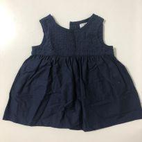 Vestido azul marinho - 3 meses - Carter`s
