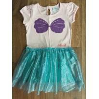 Vestido fantasia sereia Ariel Disney - 2 anos - Disney