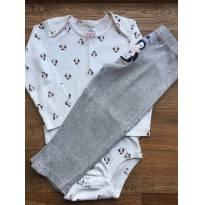 Conjunto pijama body e calça Carter`s 24M - 18 a 24 meses - Carter`s