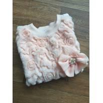 Blusa moletom flores rosa puro charme - 2 anos - Infanti