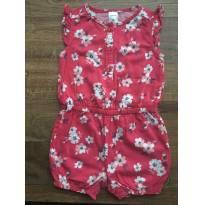 Macaquinho vermelho florido Carter`s 18 meses - 18 meses - Carter`s