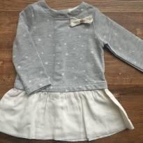 Vestido manga longa estrelinhas Zara 6-9 meses - 6 a 9 meses - Zara Baby