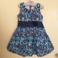 Vestido Borboletas Azul - 4 anos - Marisol