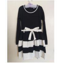Vestido Preto / Branco - 6 anos - Não informada