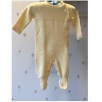 Macacão amarelo de maternidade em tricot - Recém Nascido - Dolce Abbraccio