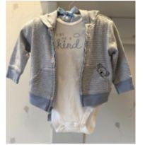 Conjuntinho Carters (casaquinho com ziper e capuz + body) - 3 a 6 meses - Carter`s
