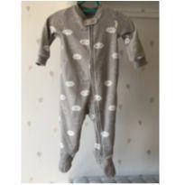 Macacão cinza unissex em fleece - 9 a 12 meses - Carter`s