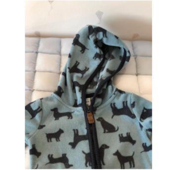 Macacão dog Carters em fleece - 9 a 12 meses - Carter`s