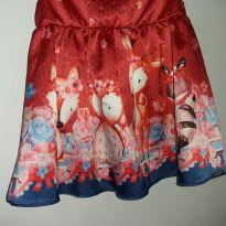 Vestido de festa vermelho com desenho e detalhes em pedras - 3 meses - Alakazoo!