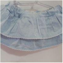 Short Saia tipo jeans babados - 3 meses - Baby Classic